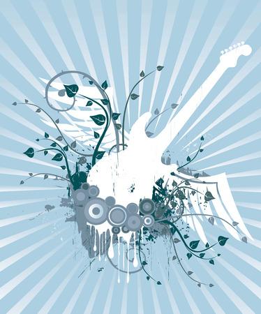 Guitar Grunge Design Illustration