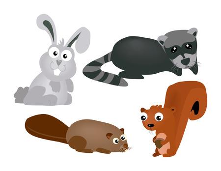 Small Animals Illustration Vector