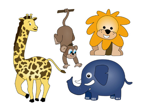 Zoo Animals Stock Vector - 1647786
