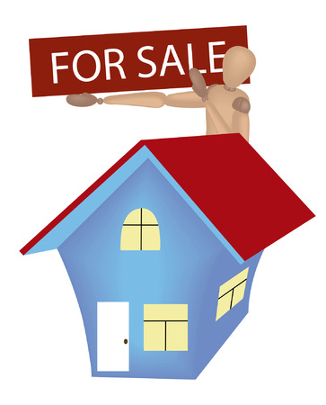 house for sale: Mannequin Series: House for Sale Illustration