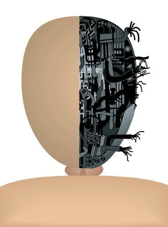 Mannequin de série: câble à l'intérieur Banque d'images - 1675756
