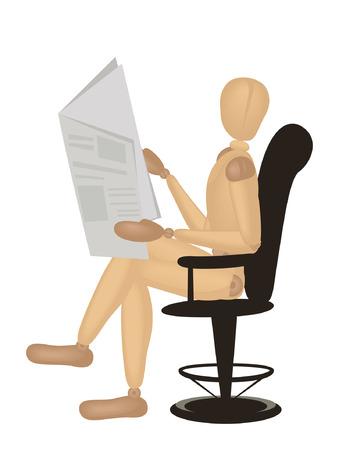 current affairs: Mannequin Series: Reading Newspaper