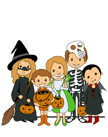 kids costume: Kids in Halloween Costumes