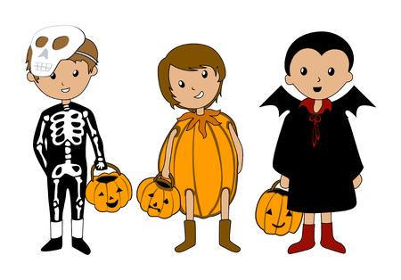 skeleton costume: Kids in Halloween Costumes