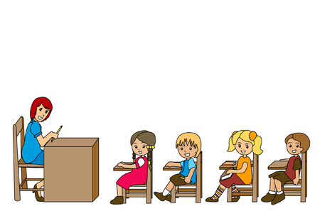 preschool teacher: Preschoolers Illustration