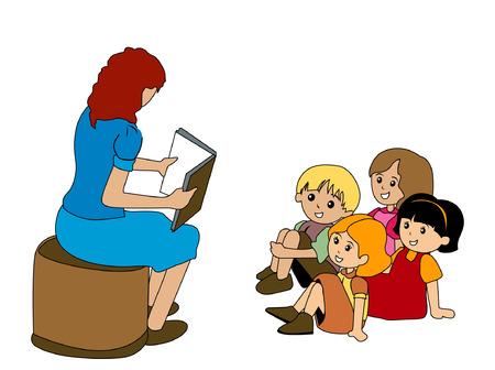 teachers: Preschoolers Illustration