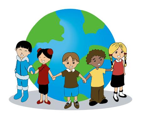 Children Around the Globe Stock Vector - 1780219