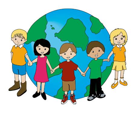 Children Around the Globe Stock Vector - 1780216