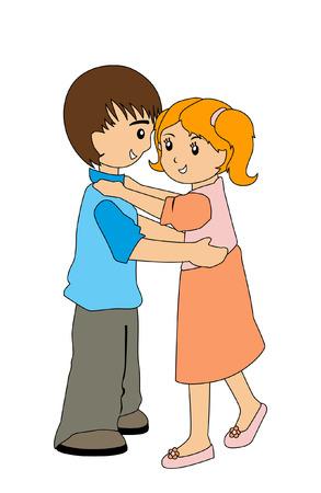 Illustration of Kids Dancing Vector
