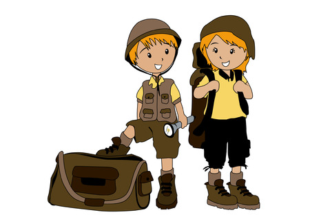 Illustration of Kids ready for Camp