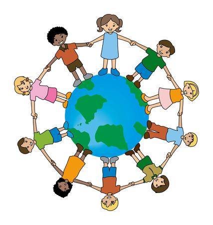 Illustration of Kids Around the World Stock Vector - 1780214