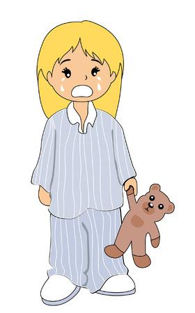 pijama: Ilustraci�n de un llanto infantil Vectores