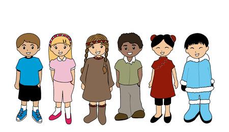 nationalities: Illustration of Children Illustration