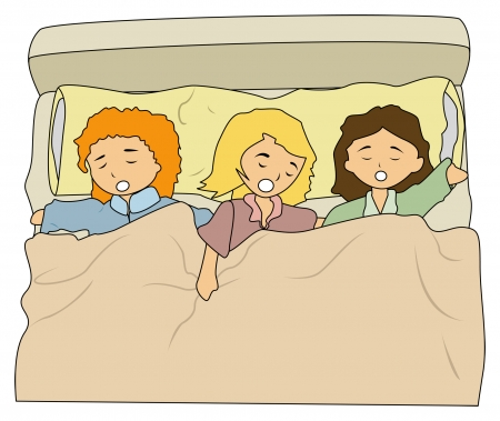 Illustration of Kids sleeping
