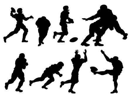 Football Players Silhouette Vector