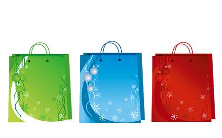 kerst markt: Kerst ontwerp op papier bag