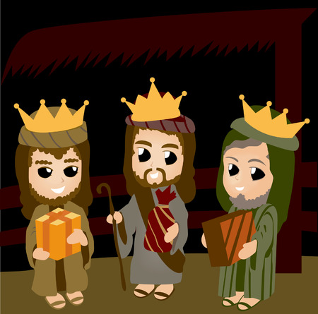 new testament: Bible Stories: The Three Kings Illustration
