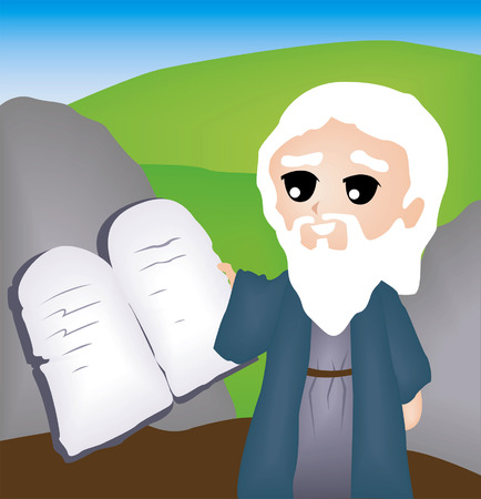 10: Bible Stories: The Ten Commandments Illustration