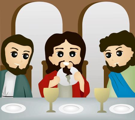 Storie della Bibbia: l'Ultima Cena Vettoriali