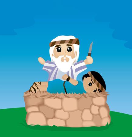 Bible Stories: The Test of Abraham Vektorové ilustrace
