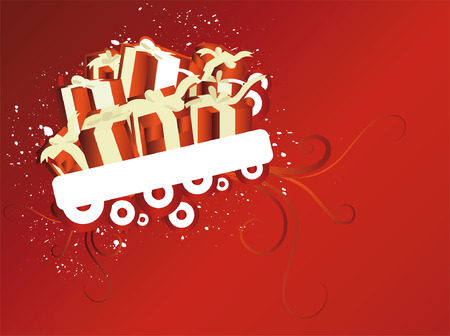 Christmas Background Design with space for text Vector