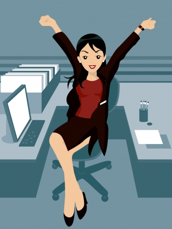 Illustration of a Woman in the Office Stock Vector - 2118297