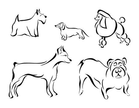 Ilustración de Perros  Ilustración de vector