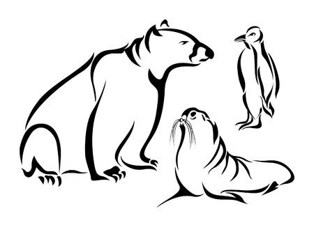 Polar Animals Stock Vector - 2416970