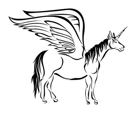 Unicorn Illustration Vector