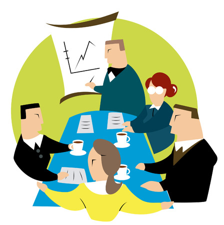 Business Concepts: Business Meeting Illustration