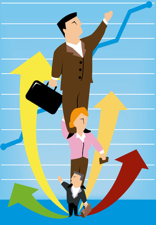 Business Concepts: Growth Chart Stock Vector - 2430050