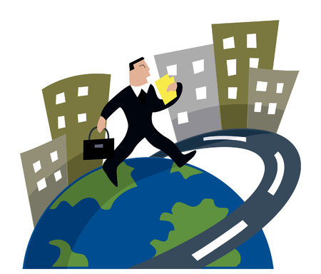 globalization: Business Concepts: Globalization Illustration