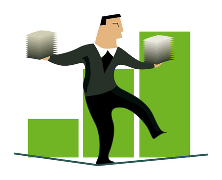 Business Concepts: Balancing Act Stock Vector - 2430025