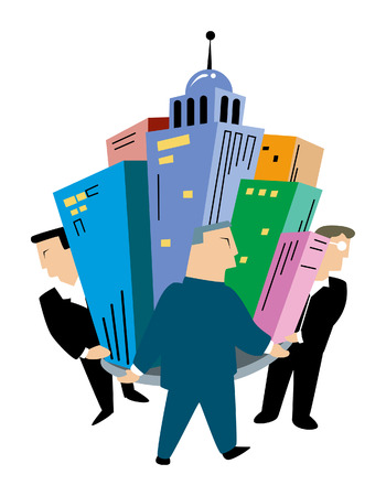 entrepreneurs: Business Concepts: Entrepreneurs Illustration