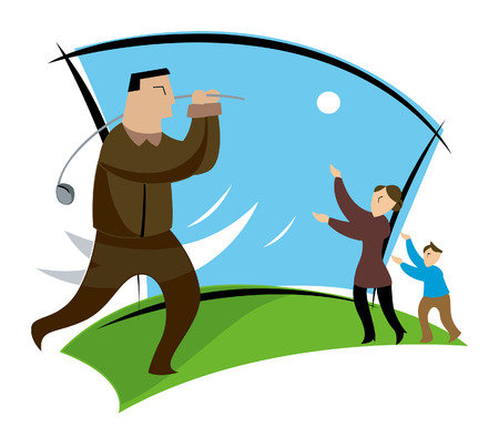 Business Concepts: Golf Stock Vector - 2430017
