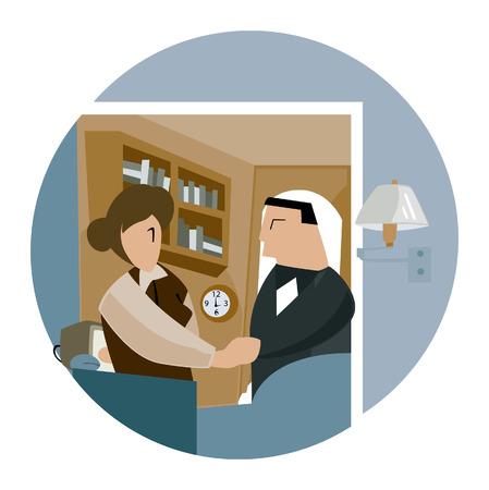 Business Concepts: Handshake Vector