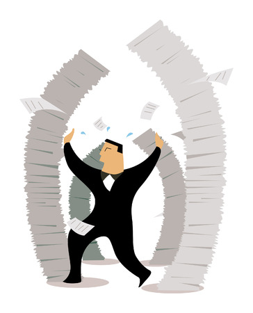 Business Concepts: Job Stress Stock Vector - 2430048