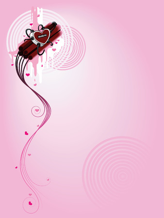 Valentine Background - Timed Heart Bomb Stock Vector - 2520993