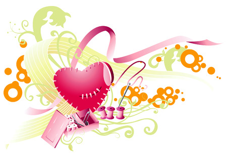 Abstract Heart Design Vector