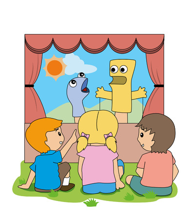 puppet show: Puppet Show Illustration
