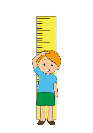measure height: Boy Measuring Height