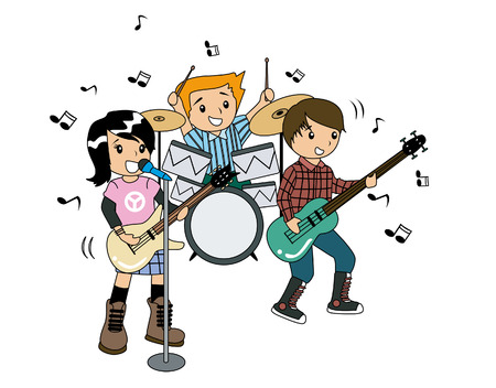 stage set: Children in a Band