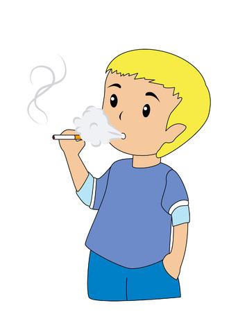 joven fumando: Ni�os fumadores
