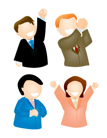 achievement clip art: Winning Expressions Illustration