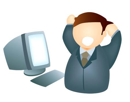 computer problems: La frustraci�n de ordenador Vectores