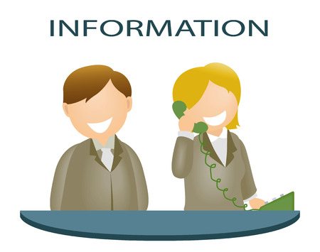 customer service icon: Information Desk
