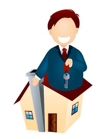 Real Estate Agent Stock Vector - 2727416