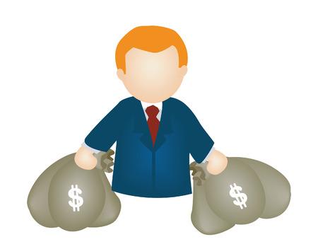Bags of Money Illustration