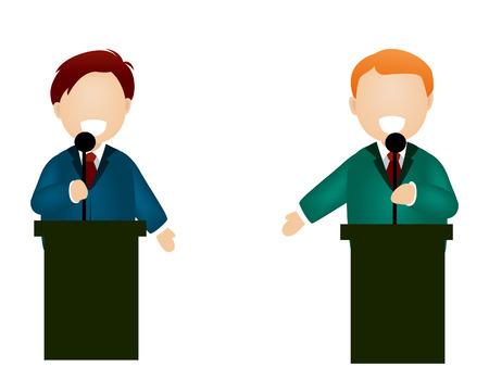 Illustratie van het debat