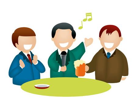unwind: Karaoke Men Illustration